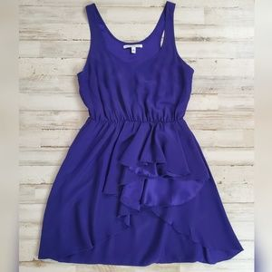 Amanda Uprichard Royal Purple Silk Draped Dress XS
